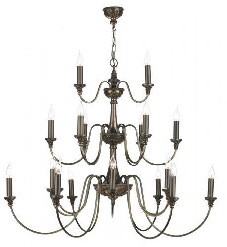 Bailey 21-light Made in the Cotswolds Ceiling Light Rich Bronze BAI2163